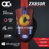 MOUSE GAMING Anitech ZX850R - แดง