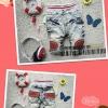กางเกงยีนส์เด็กสไตส์เกาหลี  เนื้อดีผ้ายืดหยุ่นได้ เอวยางยืด  ด้านหน้าตกแต่งด้วยหนัง + ด้านหลังฝากระเป๋าทำด้วยหนัง เดินเส้นสวยงาม