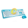 Keyboard Wireless OKER (T26) ฺBlue