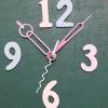 ชุดตัวเครื่องนาฬิกาญื่ปุนเดินเรียบ เข็มลายโมเดิน ขนาดกลาง เข็มสั้น-เข็มยาวสีชมพู เข็มวินาทีสีขาว อุปกรณ์ DIY