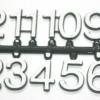 ชุดตัวเลขสำหรับประกอบนาฬิกา สีขาวขอบดำ ตัวเลขสูง 15มม. อุปกรณ์ DIY