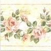 แนวภาพดอกไม้ ลายดอกกุหลาบหวานเป็นภาพแนวยาว บนพื้นครีม กระดาษแนพกิ้นสำหรับทำงาน เดคูพาจ Decoupage Paper Napkins ขนาด 33X33cm