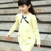 Huanzhu kids ชุดเดรส เด็กสีเหลือง น่ารักสไตล์เกาหลี