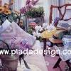 กระดาษสาพิมพ์ลาย สำหรับทำงาน เดคูพาจ Decoupage แนวภาำพ บ้านและสวน ห้องรับแขกแสนอบอุ่นด้วยโ่ทนสีม่วย รายรอบไปด้วยดอกไม้ทั้งกล้วยไม้หลากหลายสีและดอกทานตะวัน (ปลาดาวดีไซน์)