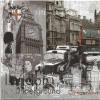 แนวภาพ Landmark ลอนดอน ประเทศอังกฤษ กระดาษแนพกิ้นสำหรับทำงาน เดคูพาจ Decoupage Paper Napkins มีภาพ 4 ชุดในแผ่น ขนาด 33X33cm