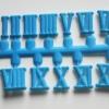 ชุดตัวเลขสำหรับประกอบนาฬิกา ตัวเลขโรมัน สีฟ้า ตัวเลขสูง 10มม. อุปกรณ์ DIY