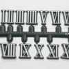 ชุดตัวเลขสำหรับประกอบนาฬิกา เลขโรมัน สีขาวขอบดำ ตัวเลขสูง 10มม. อุปกรณ์ DIY