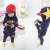 เสื้อผ้าเด็ก ชุดเช็ต เสื้อแขนยาวมีฮูทเห่ห์ๆ + กางเกงขายาว สไตล์เกาหลี