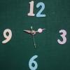 ชุดตัวเครื่องนาฬิกาญื่ปุนเดินเรียบ เข็มลายโมเดิน ขนาดเล็ก เข็มสั้น-เข็มยาวสีชมพู เข็มสีเงิน อุปกรณ์ DIY