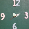 ชุดตัวเครื่องนาฬิกาญื่ปุนเดินเรียบ เข็มลายกลีบใบไม้ ขนาดเล็ก เข็มสั้น-เข็มยาวสีเขียว เข็มวินาทีสีแดง อุปกรณ์ DIY