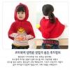 เสื้อคลุมแบบมีฮูทสีแดง มาใหม่สไตล์เกาหลี น่ารักมากๆ