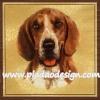 กระดาษสาพิมพ์ลาย สำหรับทำงาน เดคูพาจ Decoupage แนวภาพ สุนัข น้องหมา สีโทนน้ำตาลขาว บนพื้นครีม