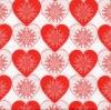 แนวภาพความรัก หัวใจขาวแดง ภาพโทนสีแดง เป็นภาพกระจายเต็มแผ่น กระดาษแนพกิ้นสำหรับทำงาน เดคูพาจ Decoupage Paper Napkins ขนาด 33X33cm