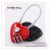 GL178 แม่กุญแจ หมุนถอดรหัส ไม่ต้องใช้ลูกกุญแจ รูปหัวใจ สวย น่ารัก ล๊อคกระเป๋า หรือ ตู้ขนาดเล็ก