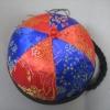 หมวกฮองเต้ ทรงแมนจู สีน้ำเงิน-แดง ขนาดรอบศรีษะ 52 Cm