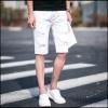 กางเกงขาสั้นสตรีทแฟชั่น Denim : สีขาว