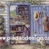 กระดาษอาร์ทพิมพ์ลาย สำหรับทำงาน เดคูพาจ Decoupage แนวภาพ บ้านและสวน ห้องเก็บอุปกรณ์เพาะชำดอกไม้ สวนสวย (ปลาดาว ดีไซน์)