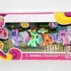 โมเดลม้าโพนี่ My Little Pony สีหวาน Set 4 ตัว