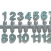 ชุดตัวเลขสำหรับประกอบนาฬิกา ตัวเลข สีเขียวขอบดำ ตัวเลขสูง 9มม. อุปกรณ์ DIY