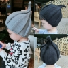 BB032 หมวกไหมพรมเด็กแฟนซี ทรงเกลียว หน้าหมวกปักแหลม สวย น่ารัก มี 3 สี เทา ดำ น้ำเงิน ใส่ได้ทั้งเด็กผู้ชาย และเด็กผู้หญิง