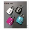 GL153 แม่กุญแจ หมุนถอดรหัส ไม่ต้องใช้ลูกกุญแจ รูปสีเหลี่ยม สวย น่ารัก ล๊อคกระเป๋า หรือ ตู้ต่างๆ ขนาด สูงถึงตัวคล้อง 5.9 xกว้าง 3.2 x ตัวคล้องหนา 4 มิล