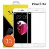 Diamond ฟิล์มกระจกIphone 6 plus ไอโฟน 6 พลัส 3D ขอบ Carbon fiber สีขาว