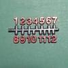 ชุดตัวเลขสำหรับประกอบนาฬิกา ตัวเลข สีแดงขอบดำ ตัวเลขสูง 9มม. อุปกรณ์ DIY