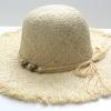 ชิ้นงานเดิบ เส้นใยธรรมชาติ ทำ Decoupage งานเพนท์ หมวกเส้นใยธรรมชาดิทอ ปีกกว้าง สีธรรมชาติ