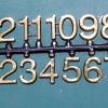 ชุดตัวเลขสำหรับประกอบนาฬิกา สีทองขอบดำ ตัวเลขสูง 15มม. อุปกรณ์ DIY