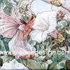 กระดาษสาพิมพ์ลาย สำหรับทำงาน เดคูพาจ Decoupage แนวภาำพ ภาพวาด Fairy Story นางฟ้าน้อยในเดรสขาว นั่งฟังเพลงสวรรค์ผ่านดอกลำโพง (ปลาดาวดีไซน์)