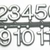 ชุดตัวเลขสำหรับประกอบนาฬิกา สีขาวขอบดำ ตัวเลขสูง 11มม. อุปกรณ์ DIY