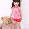 ชุดเซตเด็ก เสื้อ +กางเกง สีแดงน่ารักสไตล์เกาหลี เก๋มากค่ะ