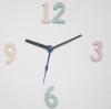 ชุดตัวเครื่องนาฬิกาญื่ปุนเดินเรียบ เข็มลายโมเดิน ขนาดเล็ก เข็มสั้น-เข็มยาวสีดำ เข็มวินาทีสีน้ำเงิน อุปกรณ์ DIY