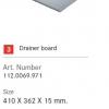 อุปกรณ์เสริมอ่าง FRANKE รุ่น Drainer board