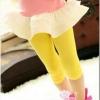 cisi กางเกงเลคกกิ้งเด็กหญิง สไตล์เกาหลี ผ้าเนื้อนุ่ม ใส่สบาย สีเหลือง
