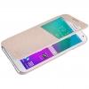 Nillkin เคสฝาพับ Samsung E5 วัสดุเกรดพรีเมียม สไตล์เรียบหรู (สีทอง)