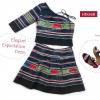 ชุดเกาะอก ผ้าชาวเขา HD016B / Elegant Expectation Dress HD016B