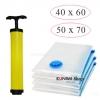 GH149 ถุงสูญญากาศเป็นเซ็ต 4 ใบ ขนาด 40x60 cm (2ใบ) , 50X70 cm. (2ใบ) และ กระบอกสูบ 1 ชิ้น
