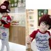 หมวกหมวกไหมพรมเด็กติดแบรนด์เนอร์ NFL น่ารักสไตล์เกาหลี สีน้ำตาล