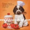 กระดาษสาพิมพ์ลาย สำหรับทำงาน เดคูพาจ Decoupage แนวภาำพ ภาพวาด หมาน้อยบีเกิ้ล แปลงร่างเป็นครูกุ๊ก วันนี้จะทำพาสต้าให้กิน มีคำคมวลีเด็ด (ปลาดาวดีไซน์)