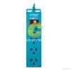 Anitech รางปลั๊กไฟ 4 ช่อง รุ่น H100-BL (สีฟ้า)