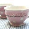 ถ้วยซุปลายจุด สีชมพู Polka Dot Princess มาเป็นเซต 2 ใบค่ะ Morgan & French