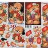 กระดาษ 3D สร้างลายนูน หมีน้อยขนปุย กับของขวัญ คืนวันคริสมาสต์ มี 2 ภาพ ขนาด A4