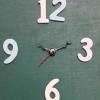 ชุดตัวเครื่องนาฬิกาญื่ปุนเดินเรียบ เข็มลายโมเดิน ขนาดเล็ก เข็มสั้น-เข็มยาวสีดำเงิน เข็มวินาทีสีแดง อุปกรณ์ DIY