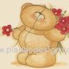 กระดาษสาพิมพ์ลาย สำหรับทำงาน เดคูพาจ Decoupage แนวภาำพ ภาพวาด ภาพแนวการ์ตูน น้องหมี ฮอลล์มาร์ค Hallmarks bear ดอกไม้ให้คุณ น้องหมีถือดอกไม้สีแดงซ่อนไว้ด้านหลัง (ปลาดาวดีไซน์)