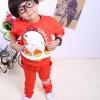 Huanshu kids ชุดเซ็ทเด็ก เสื้อแขนยาวคอกลม + กางเกงขายาว สไตล์เกาหลี (110,120)