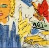 แนวภาพท่องเที่ยว ภาพลายเส้นลงสีสัญลักษณ์ต่างๆ มาริลีน เทพีเสรีภาพ ฯลฯ ของ นิวยอร์ค อเมริกา ภาพแนวสีเขียว เป็นภาพ 4 บล๊อค กระดาษแนพกิ้นสำหรับทำงาน เดคูพาจ Decoupage Paper Napkins ขนาด 33X33cm