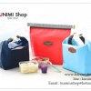GB033 กระเป๋าผ้าใส่อาหารปิ่นโตกล่องข้าว เก็บรักษาอุณหภูมิ ร้อน-เย็น ขนาด สูง 22.5 x กว้าง 28 cm. มี 5 สี ชมพู ไวท์แดง ฟ้า แดง กรมท่า