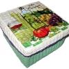 กล่องเก็บของผักตบชวาทรงจตุรัส แบบฝาครอบ ลายน้ำมันมะกอกกับไวน์