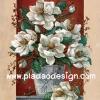 กระดาษสาพิมพ์ลาย rice paper สำหรับทำงาน เดคูพาจ handmade Decoupage แนวภาพ ตกแต่ง บ้านและสวน ดอกไม้สีขาวในกระถาง ใหญ่มาก ปลาดาว ดีไซน์